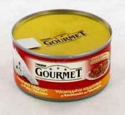 GOURMET GOLD PATE PER GATTI CON TOCCHETTI DI POLLO E TACCHINO GR.195 - 24 CONFEZIONI