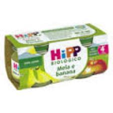 HIPP OMOGENEIZZATI MELA E BANANA - DAL QUARTO MESE - 2 x 80 G