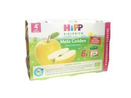 HIPP OMOGENEIZZATI MELA GOLDEN DAL QUARTO MESE 6 x 80 G