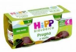 HIPP OMOGENEIZZATI PRUGNA E MELA - DAL QUARTO MESE - 2 x 80 G