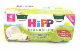 HIPP OMOGENEIZZATO FORMAGGINO E MOZZARELLA - DAL QUARTO MESE - 2 x 80 G