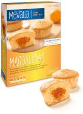 MEVALIA MAGDALENAS - MERENDINE APROTEICHE CON CONFETTURA DI ALBICOCCA - 4 x 50 G