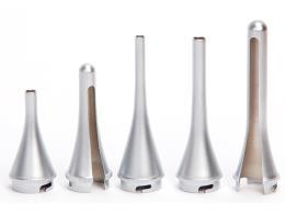 SET 3 CANNULE METALLO (Ø 4 - 5 - 6 mm) + 2 SPECULUM METALLO (Ø 7.5 - 9.4 mm)