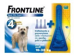 FRONTLINE SPOT ON CANI MEDI 10-20 KG 4 PIPETTE DA 1,34 ML