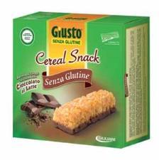 GIUSTO SENZA GLUTINE - CEREAL SNACK CON CIOCCOLATO AL LATTE - 150 G